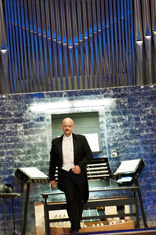 Hans-Ola vid Orgel Acusticum. Foto: Luleå Tekniska Universitet